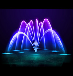 Colorful fountain realistic image vector