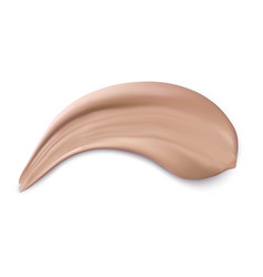 Cosmetic concealer realistic brown cream texture vector