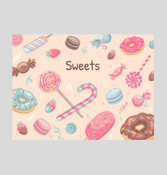 Cover design with sweets vector