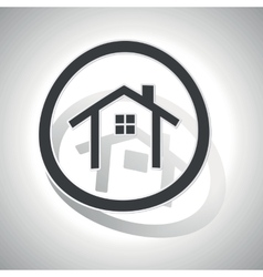 Curved cottage sign icon vector
