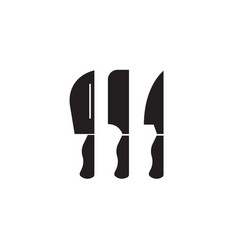 cutlery black concept icon cutlery flat vector image