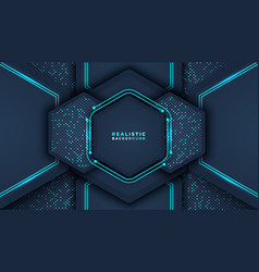 dark abstract background with overlap layers vector image