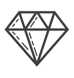 diamond line icon business and finance gem sign vector image