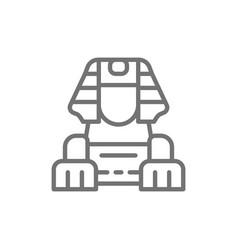 Egyptian sphinx line icon vector