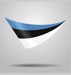 Estonian flag background vector