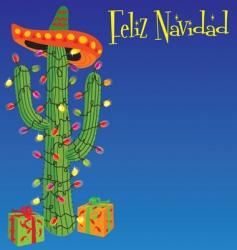 felid naiad Christmas cactus vector image