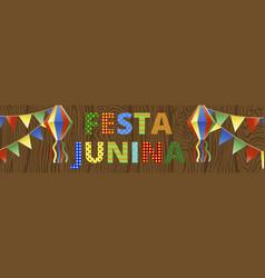 festa junina banner vector image