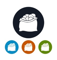Four Types of Icons Sack of Potatoes vector