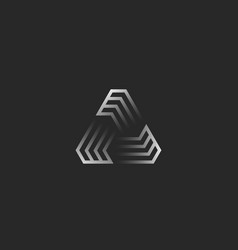 futuristic triangle shape logo creative gradient vector image