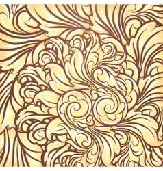 Golden Leaves Background vector
