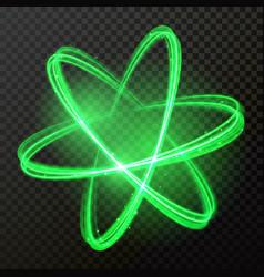 green glow light abstract shine circles vector image