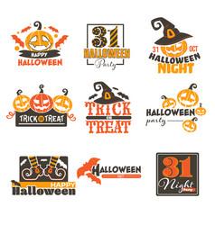 Halloween night holiday celebration 31 vector