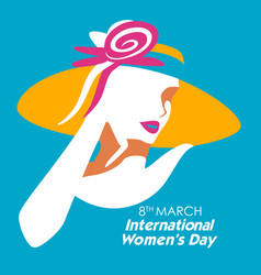 happy international womens day 8th march greetings vector image