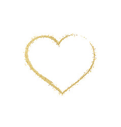 heart gold glitter golden hearts isolated on vector image