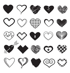 Hearts Design Icons Set vector image