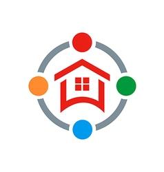 House shield protection logo vector