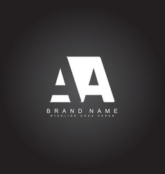 Initial letter aa logo - minimal business logo vector