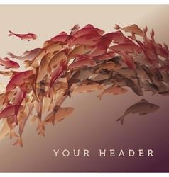 Koi fish in natural elegant color vector