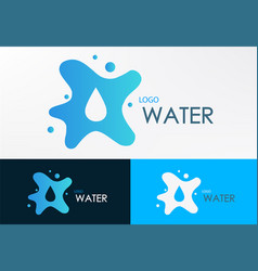 logo water liquid vector image