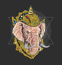 lord ganesha hindu god artwork vector image