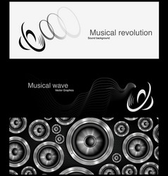 loudspeker banner for facebook design vector image