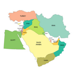 Map middle east vector
