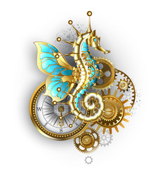 mechanical seahorse vector image
