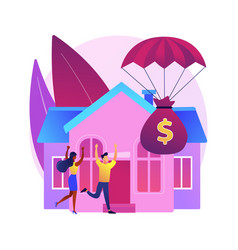 Mortgage relief program abstract concept vector