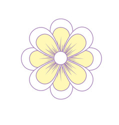 Natural flower plant with petals vector