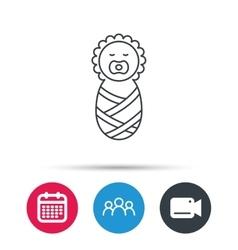 Newborn baby icon Toddler sign vector