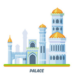 Palace castle or medieval kingdom arabian towers vector