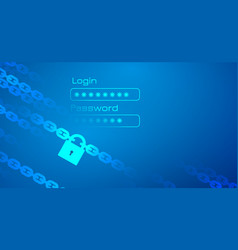 personal data protection theme with chain vector image