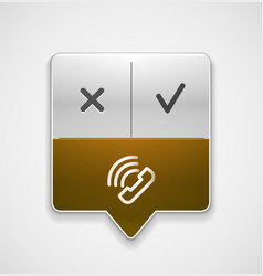 Phone support web button vector