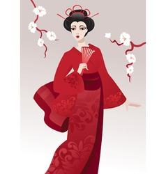 Pretty geisha vector