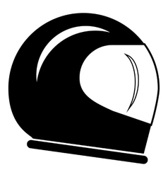 Racing helmet icon simple style vector
