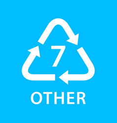 Recycle arrow triangle other types 7 isolated on vector