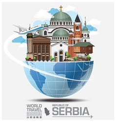 Republic Of Serbia Landmark Travel And Journey vector