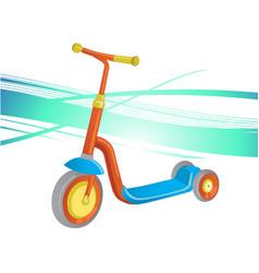 Roller scooter for children balance bike eco vector