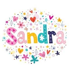 Sandra vector image