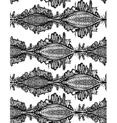 seamless pattern Fox Doodle Symbol vector image