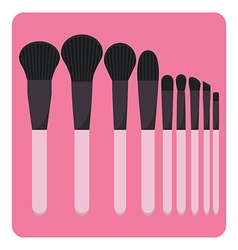 Set of make up brushes vector
