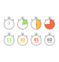 set simple timers vector image