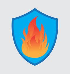 shield logo designs fire shield logo designs vector image