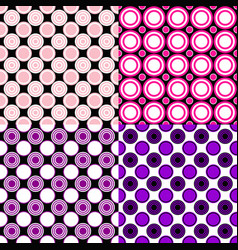 simple seamless pattern set - circle background vector image