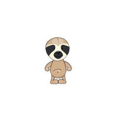sloth cartoon icon vector image