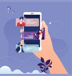 smartphone chat message notifications concept vector image