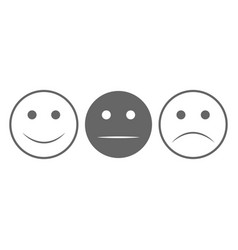 smiley face set smiley face icon happy and vector image