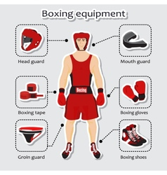 Sport equipment for boxing martial arts vector image