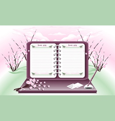 Spring Notebook vector image
