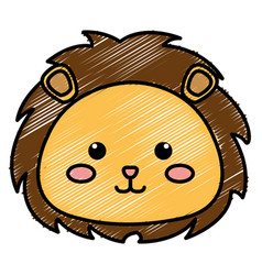 Stuffed animal lion vector